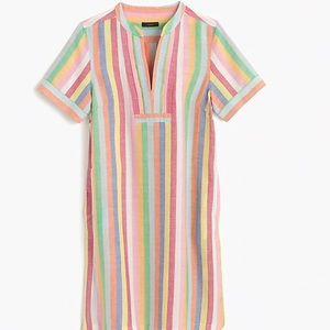 Jcrew stripe linen dress